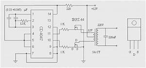 dc to ac inverter with ic cd4047 diagrams circuit With dc to ac inverter is based on the popular 555 a 555 oscillator circuit