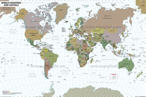 Carte Monde Pays Capitales by World Map With Countries Free Large Images