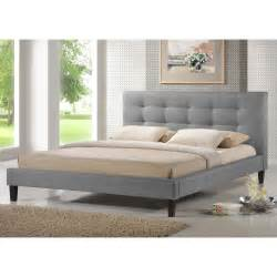 the 68 inch wide baxton studio quincy linen platform bed