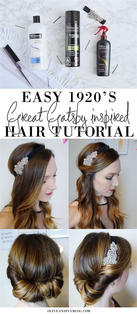 How To Do 20s Hairstyles by Easy 1920 S Great Gatsby Hair Tutorial 1920s Gatsby