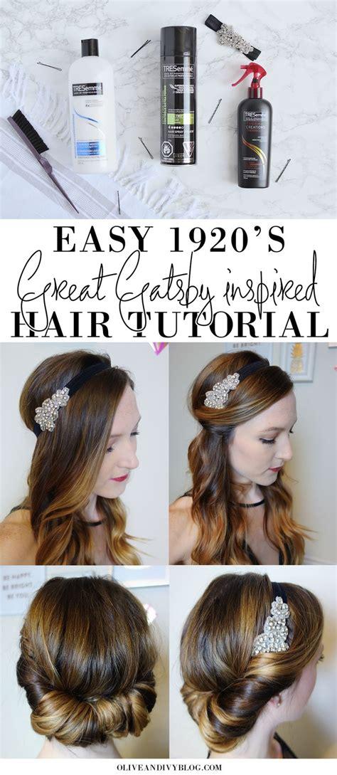 Easy 20s Hairstyles Hair easy 1920 s great gatsby hair tutorial 1920s gatsby