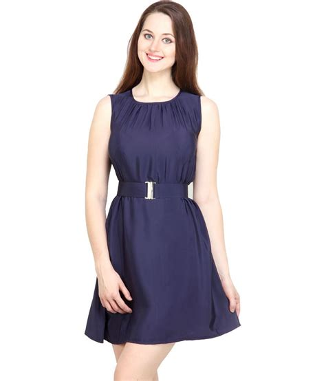 blouses and dresses tops and tunics navy blue crepe casual mini dress buy