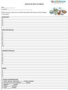 printable potluck sign  sheet   vertex