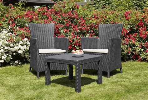 Small Outdoor Furniture Set by Allibert By Keter Rosario Outdoor 2 Seat Rattan Balcony