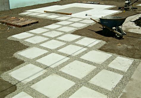 exterior how to lay pavers with concrete floor and gravel
