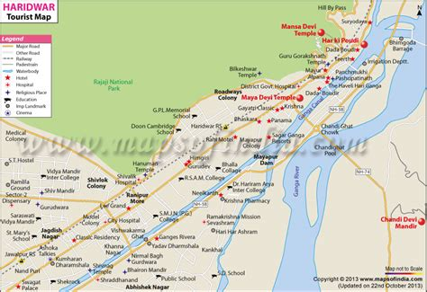 Travel to Haridwar - Tourism, Haridwar Tourist Map