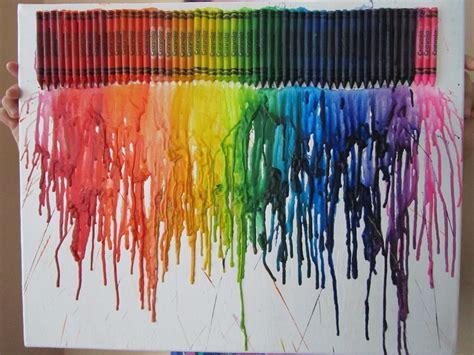 melted crayon art  piece  melted crayon art art