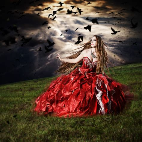 red dress fine art photography series  enrique pino