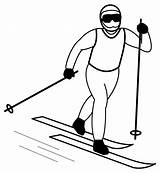 Skiing Clipart Clip Cliparts Library sketch template