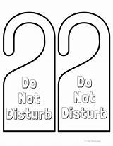 Door Disturb Hangers Signs Printables Printable Hanger Fun Doors Colored Paint Ready Fyibytina sketch template