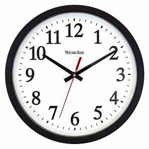 westclox, 14, u0026quot, , round, electric, powered, office, wall, clock, -, walmart, com
