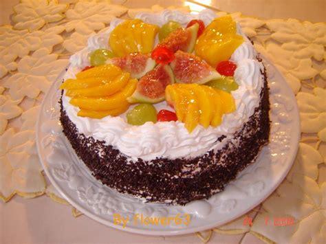 decoration de gateau avec des fruits