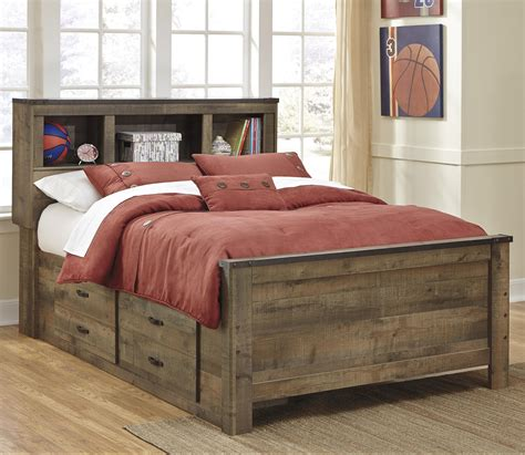 Bookshelf Bed by Rustic Look Bookcase Bed With Bed Storage By