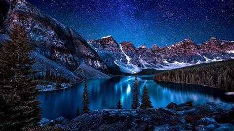 moraine lake valley   ten peaks wallpaper today