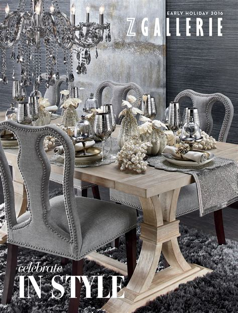 Z Gallerie Decorating Ideas by Z Gallerie Celebrate In Style Page 16 17