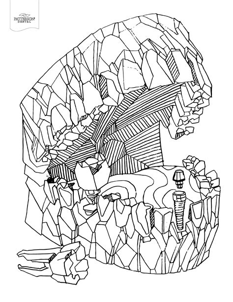 toothy adult coloring pages printable   cusp