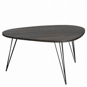 Table Basse Noir : table basse ch ne noir liana univers du salon ~ Teatrodelosmanantiales.com Idées de Décoration