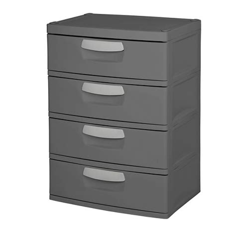 sterilite 4 drawer cabinet sterilite 174 4 drawer garage and utility storage unit gray