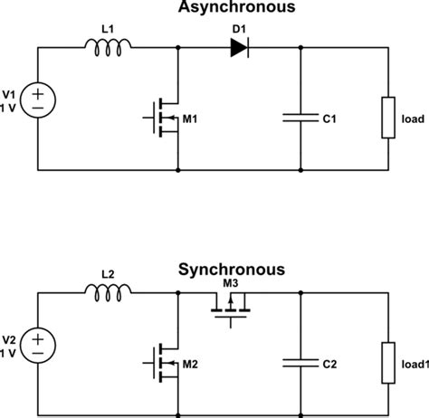 Switch Mode Power Supply Difference Between Synchronous