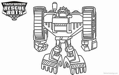 Rescue Bots Coloring Transformers Pages Boulder Printable