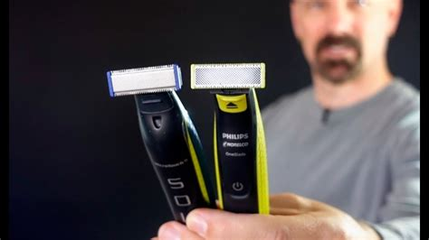Philips Norelco OneBlade vs MicroTouch Solo - YouTube