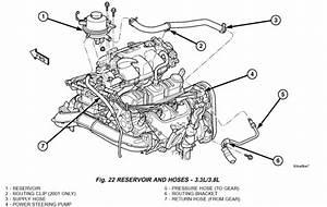 2006 Chrysler Town Country Van Power Steering Reservoir