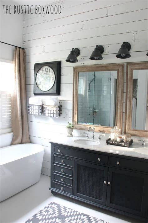 essential elements   farmhouse bathroom  turquoise