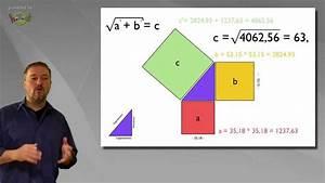 Satz Des Pythagoras A Berechnen : der satz des pythagoras leicht erkl rte mathematik und geometrie youtube ~ Themetempest.com Abrechnung