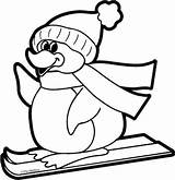 Skiing Coloring Penguin Winter Pinguin Mailbox Kleurplaat Sheets Lesson Kerst Kleurplaten Printable Plans Printables Themed Visit Themailbox Enregistree Depuis Tripafethna sketch template