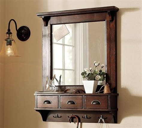 foyer mirrors wall mount entryway organizer mirror hallway coat rack key