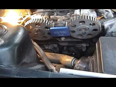 volvo  timing belt tensioner replacement youtube