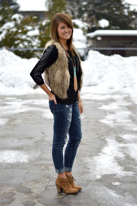 How To Wear a Fur Vest - 8 Styles to Try - ModlyChic