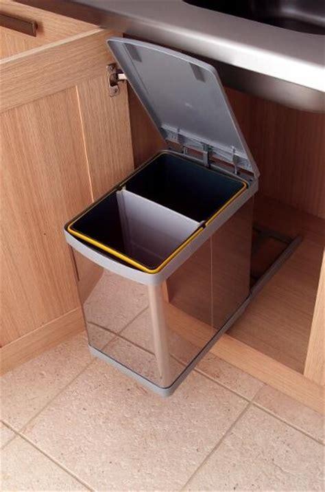 kitchen bin sink pull out waste bin 20 litres lark larks 5122