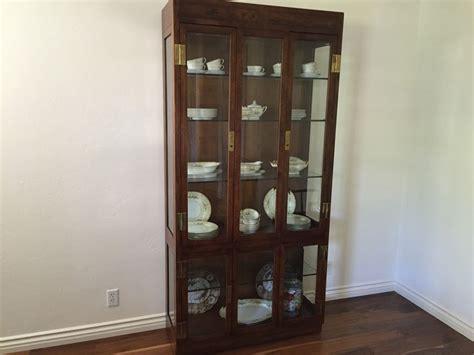 glass display cabinet hardware stunning henredon furniture curio display cabinet lighted