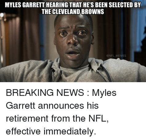 Browns Memes - myles garrett hearing that he s been selected by the cleveland browns nfl memes breaking news