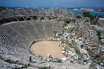 Side Theater Tuerkei Stadt Antike Bezienswaardigheden Turkije