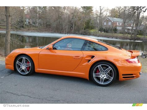 porsche 911 orange 2007 orange porsche 911 turbo coupe 4087694 photo 3