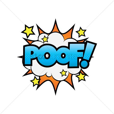 Comic Bubble Poof Vector Image Stockunlimited
