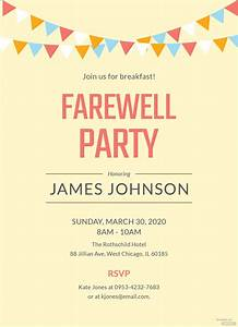 School Roll Template Farewell Breakfast Party Invitation Template In Adobe