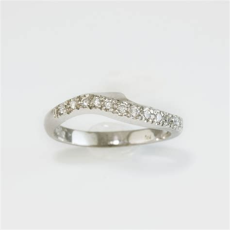 set curved wedding ring wedding eternity rings