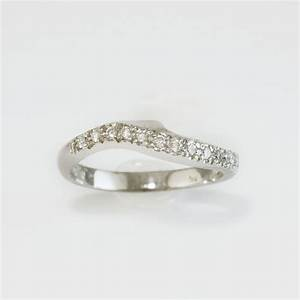 diamond set curved wedding ring wedding eternity rings With fitted wedding rings