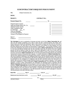 request  payment form construction fill