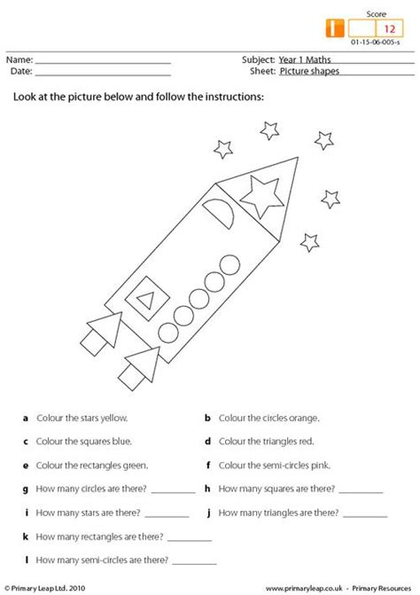 Picture Shapes Primaryleapcouk