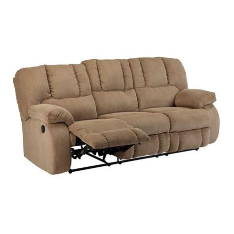 ashley reclining sofa reviews ashley roan fabric reclining sofa in mocha 3860288