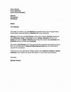 letter to notify creditors of death template With template letters to creditors