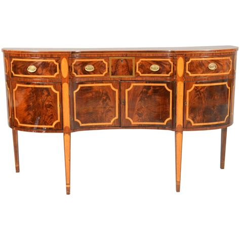 Federal Sideboard by Period American Federal Sideboard In Mahogany With Tiger