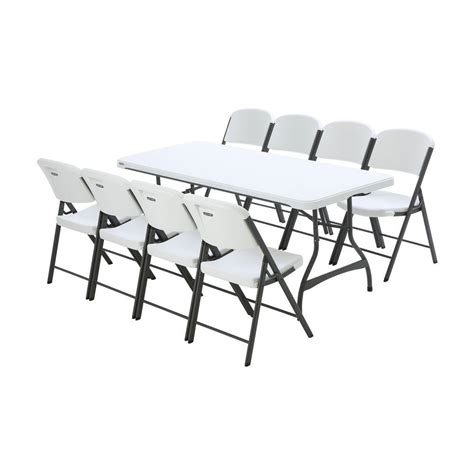 lifetime tables and chairs lifetime 6 ft white granite stacking table and chair