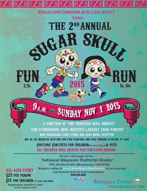 Sugar Skull Fun Run Flyer - Storehouse New Mexico