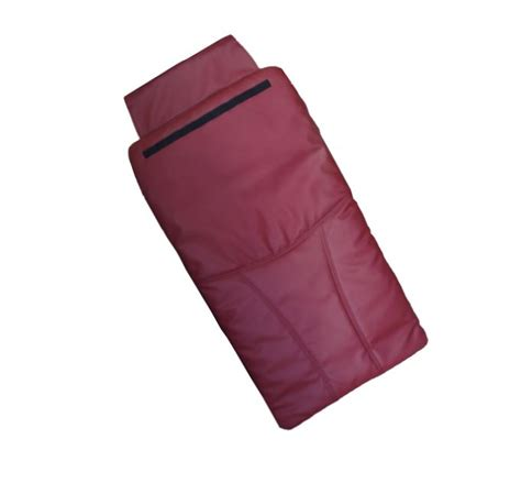 bright burgundy back cushion leather cover for