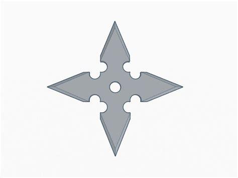 ninja star   point  model  printable stl